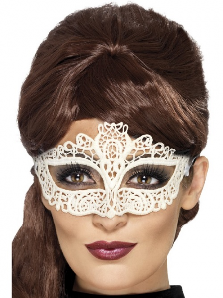 White Lace Eye Mask