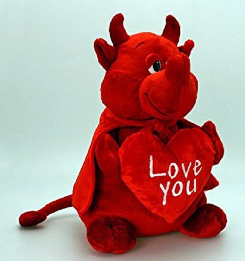 32cm Red Devil Valentines Cuddly Toy