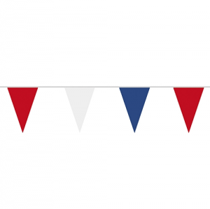 Red White & Blue Plastic Flag Bunting