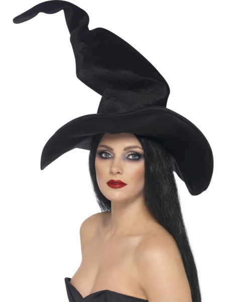 Witch's Hat Tall & Twisty in Velour Fabric Adult Size