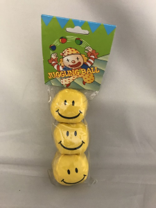 Yellow Smiley Face Juggling Balls