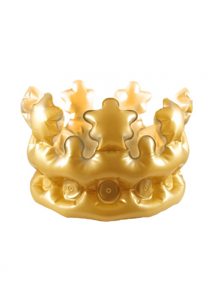Child's Inflatable Gold Crown