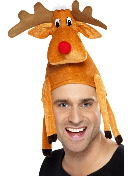 Reindeer Hat with Legs & Antlers
