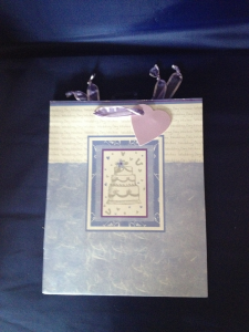 Wedding Day Wishes Gift Bag in Lilac