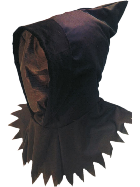 Ghoul Hood with Black See Through Face