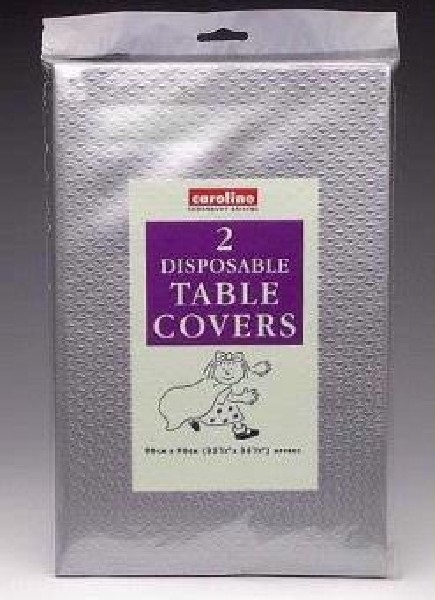 Silver Paper Table Covers