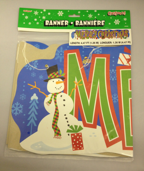 Merry Christmas Card Banner