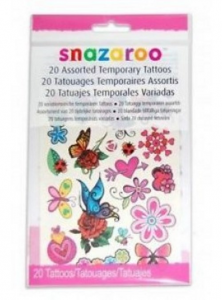 Snazeroo Girls Temporary Tattoos