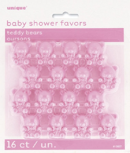 Pink Teddy Bear Baby Shower Favours
