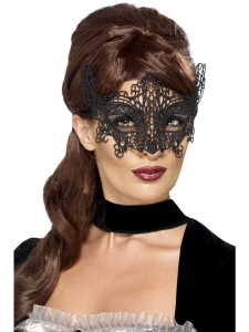 Black Lace Filigree Eyemask