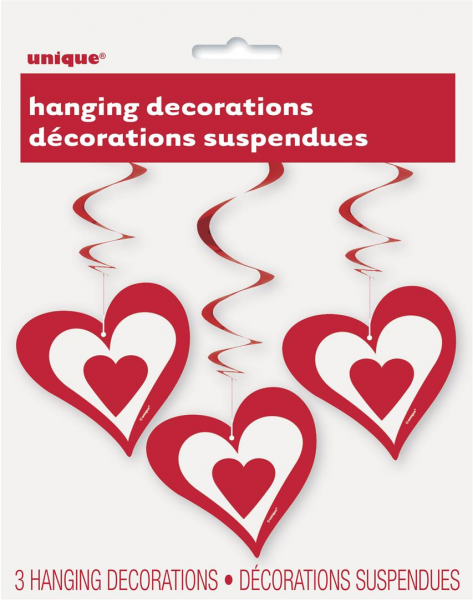 Red Heart Hanging Decorations