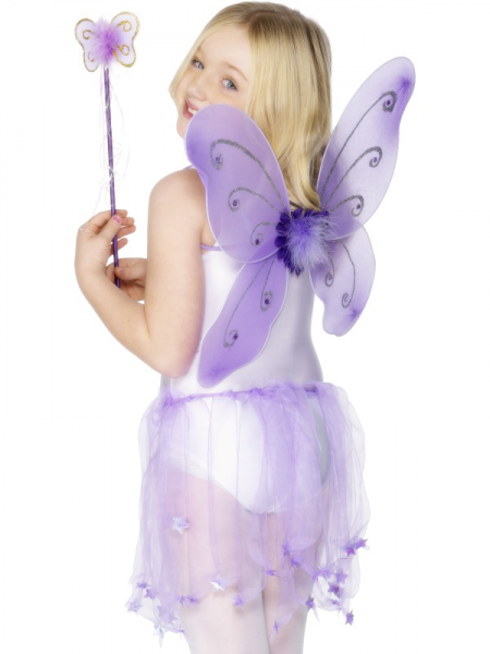 Child's Lilac Butterfly Wings with Wand
