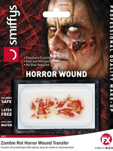 Halloween Zombie Rot Horror Wound Transfer