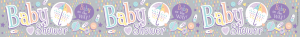 Holographic Pastel Baby Shower Banner