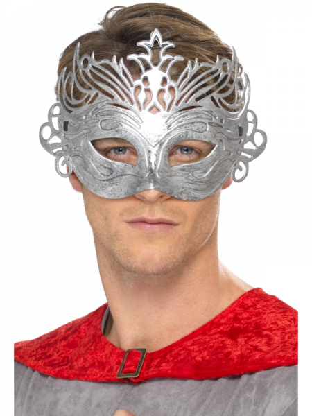 Silver Fancy Mask with Ties