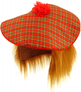 Tartan Tam O Shanter Hat with Ginger Hat