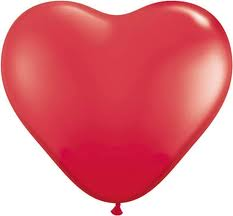 "6 x Red Heart Shaped 11"" Latex Balloon"