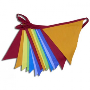 Carnival Cotton Pennant Bunting - 5 Metres Long