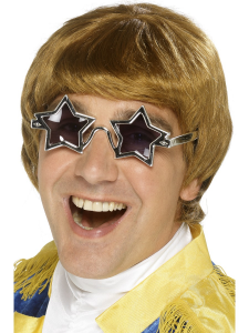 70's Star Man Wig & Glasses