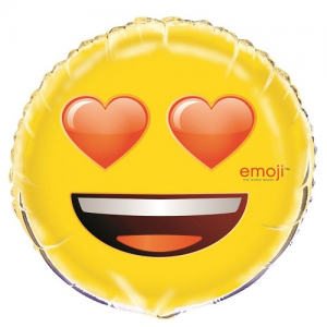 "18"" Heart Emoji Foil Balloon"