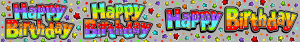 Happy Birthday Holographic Banner