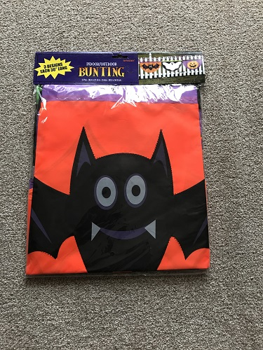 Halloween Spooky Bat/ Ghost and Pumpkin Bunting