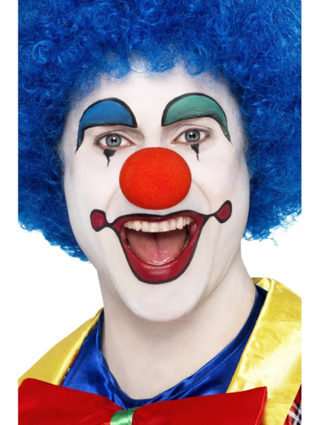 Afro Wig Blue Crazy Clown 120g