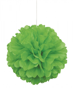"Lime Green 16"" Puff Ball Decoration"