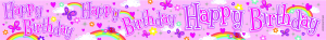 Happy Birthday Pink Foil Banner