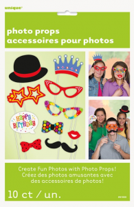 Happy Birthday Photo Booth Props