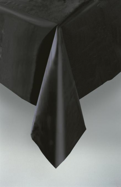 Black Plastic Table Cover & Black Plastic Table Cover - UK Party Supplies