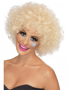 Afro Wig Blonde 70's Funky Afro Wig 120g