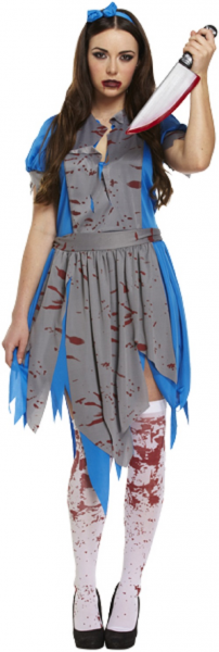 Horror Alice Lady's Fancy Dress Costume