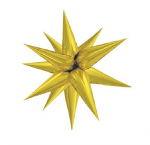 "Gold Starburst Foil Balloon 40"" Decoration Kit"