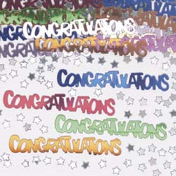 Congratulations Multi Coloured Table Confetti