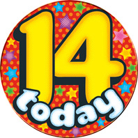 14 Today Giant Badge