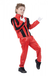 Michael Jackson Red Thriller Fancy Dress Costume Child's Size