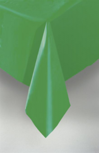 Emerald Green Plastic Table Cover
