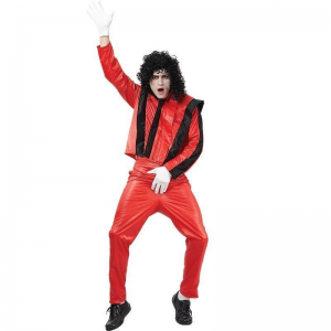 Adult Size Michael Jackson Red Thriller Fancy Dress Costume