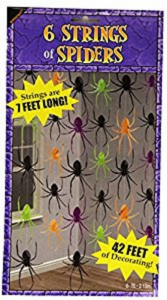 6 Strings of Spiders Hanging Decoration
