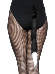 Black & White Furry Cats Tail