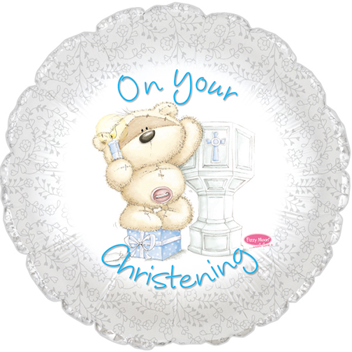 "Boy's On Your Christening 18"" Foil Balloon"