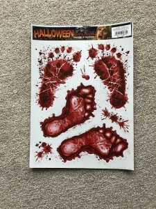 Bloody Foot Prints Decal