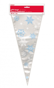 Snowflake Cello Cone Bags