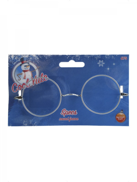 Father Christmas Santa Round Wire Glasses