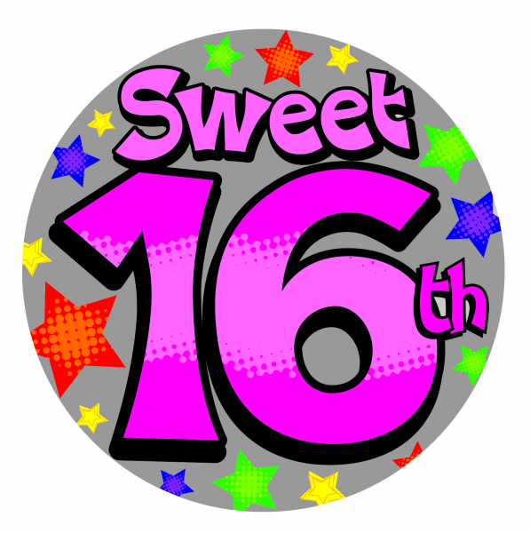 Sweet 16 Giant Badge