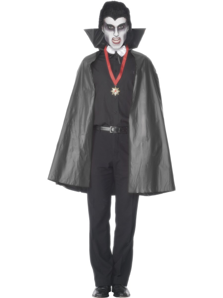 Vampire Cape - PVC Adult with Stand Up Collar
