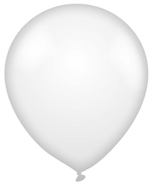 Plain White Latex Balloon