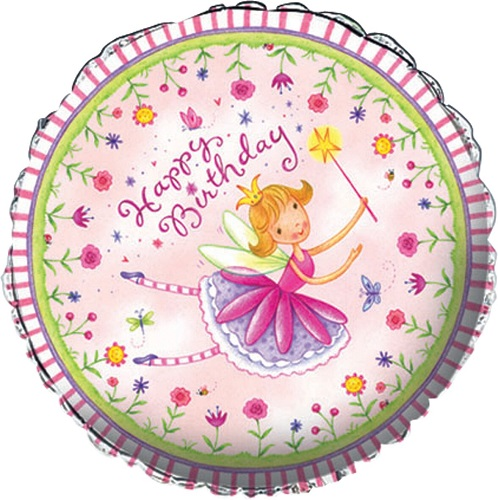 "Happy Birthday Fairy 18"" Foil Balloon"