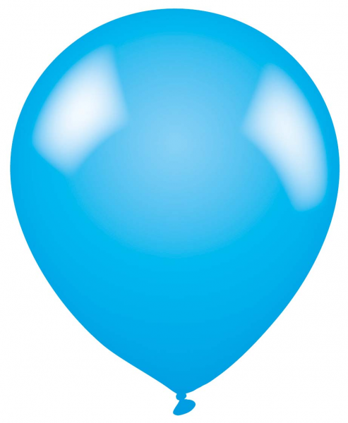 Plain Blue Latex Balloon